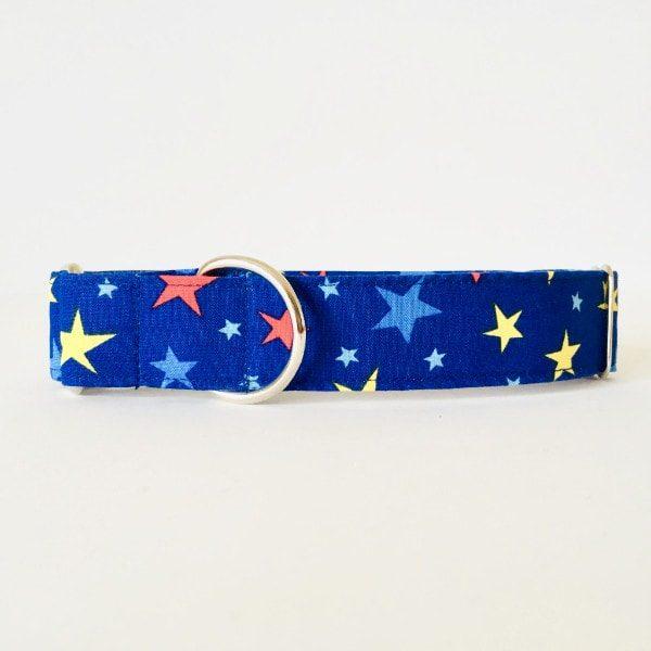 Collar para perro estrellas azul grandesCMP
