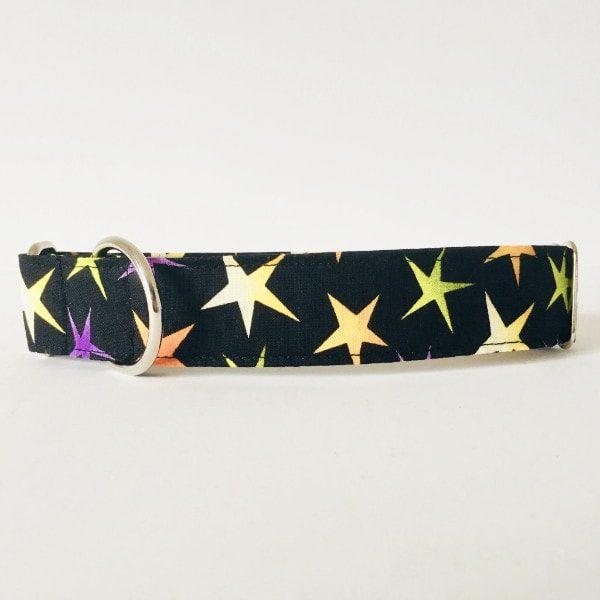 Collar para perro estrellas negro grandesCMP