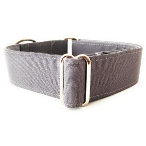 Collar perro GRIS Liso FB-min