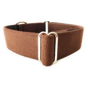 Collar perro MARRON Liso FB-min
