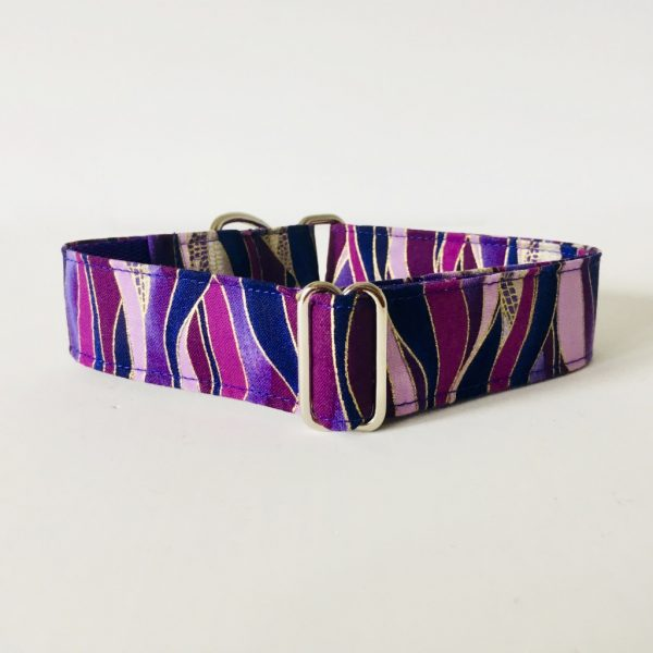 MARTINGALE DOG COLLAR DRAGONFLY PLUM 1