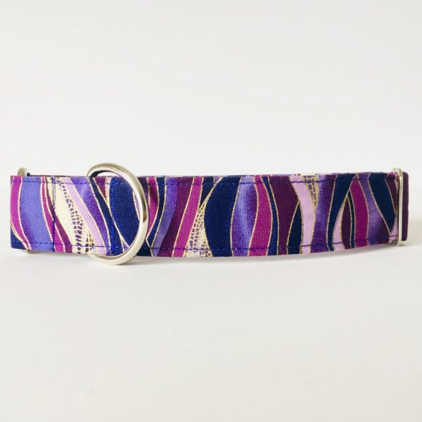 MARTINGALE DOG COLLAR DRAGONFLY PLUM 2