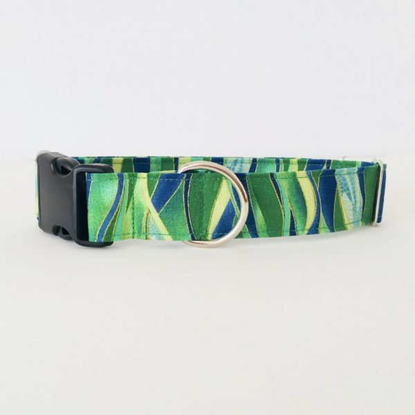 PLASTIC SIDE RELEASE DOG COLLAR DRAGONFLY EMERALD 7