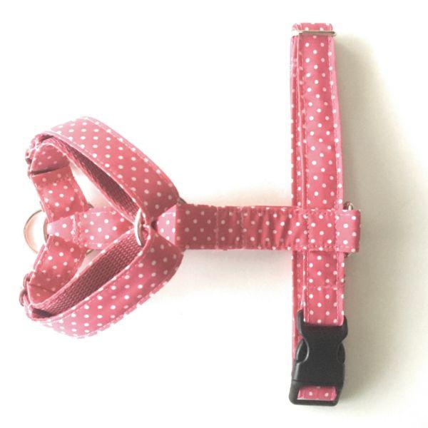arnes dos puntos lunares rosa mini-min
