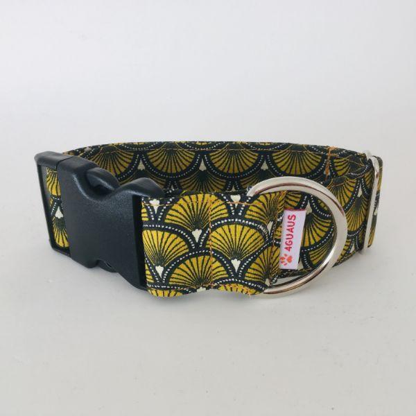 collar perro Abanicos Amarillo 6-min