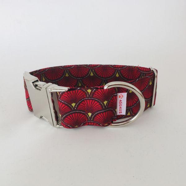collar perro Abanicos Rojo 4-min