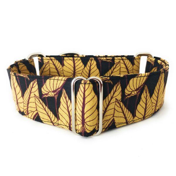 collar perro Hojas Negro 1 FB-min
