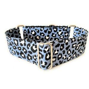 collar perro animal print azul 1-min