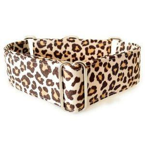 collar perro animal print marron 1-min
