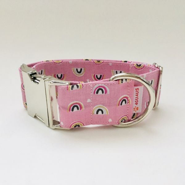 collar perro arcoiris rosa 4-min