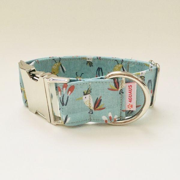 collar perro birds verdosa 4-min