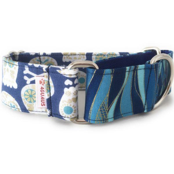 collar perro calaveras azul combi 2-min