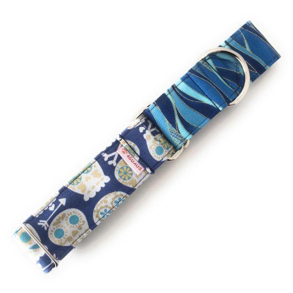 collar perro calaveras azul combi 3-min