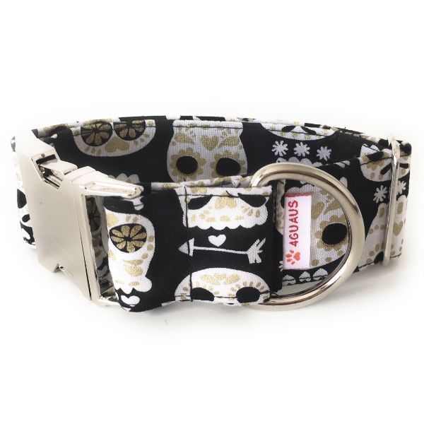 collar perro calaveras negro 4-min