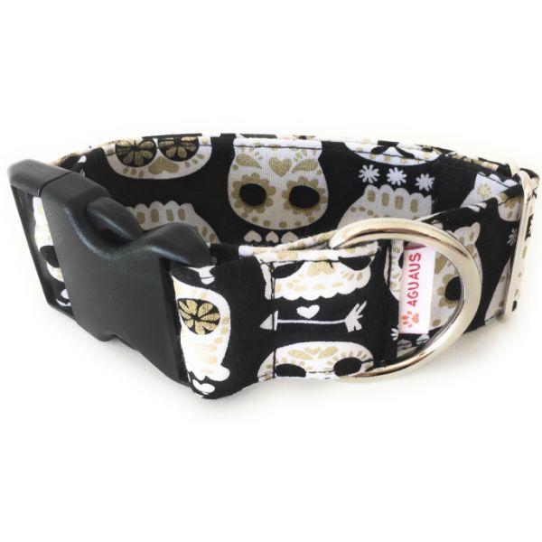 collar perro calaveras negro 6-min