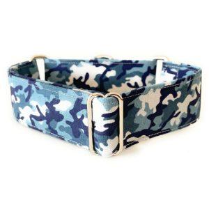 collar perro camuflaje azul 1-min