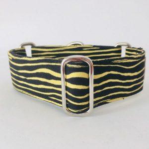 collar perro cebra negro y amarillo 1-min