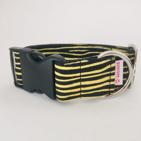 collar perro cebra negro y amarillo 7-min