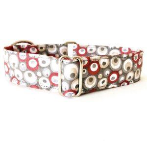 collar perro circulos rojo y gris FB-min