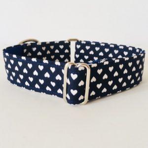collar perro corazones azul marino 2