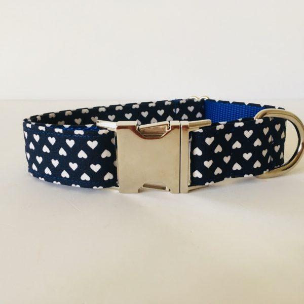 collar perro corazones azul marino 3