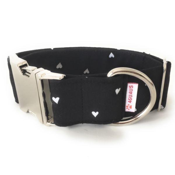 collar perro corazones blanco y negro 4-min