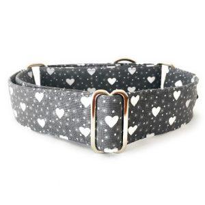 collar perro corazones gris FB-min