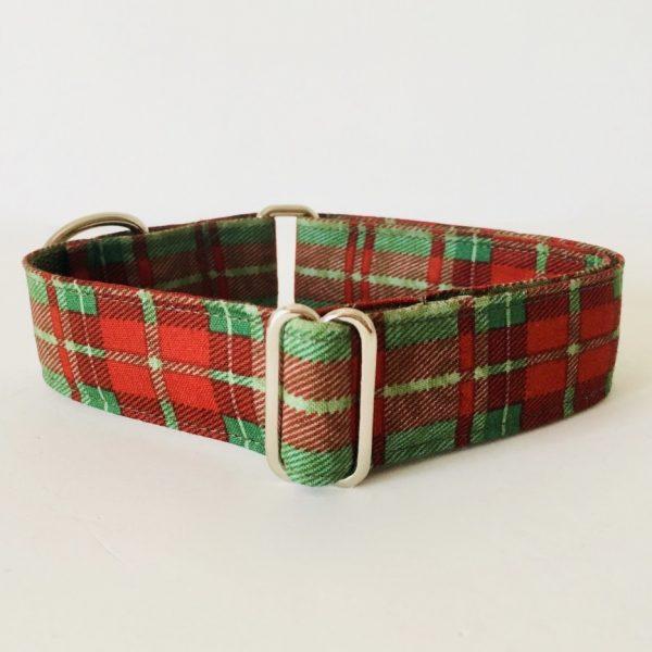 collar perro cuadros escoceses verde 1