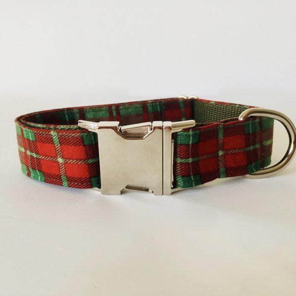 collar perro cuadros escoceses verde 2