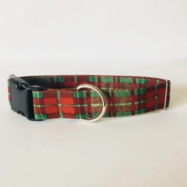 collar perro cuadros escoceses verde 3