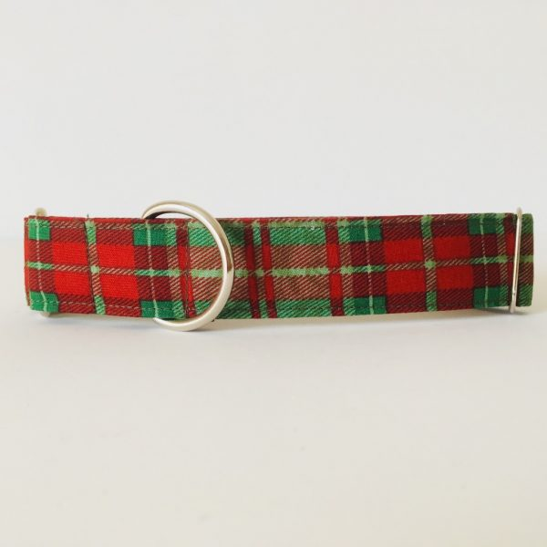 collar perro cuadros escoceses verde 4
