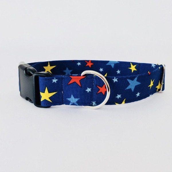 collar perro estrellas azul grande 1