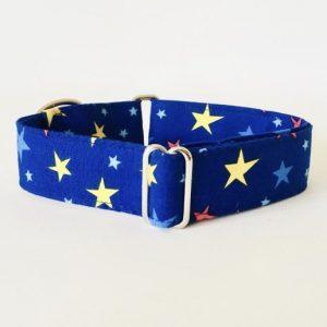 collar perro estrellas azul grande 2