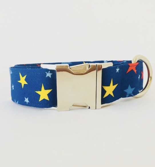 collar perro estrellas azul grande 3