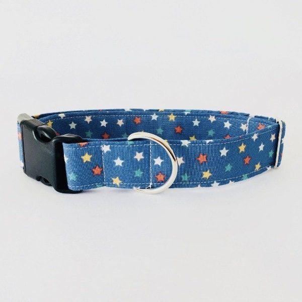 collar perro estrellas azul navidad 2