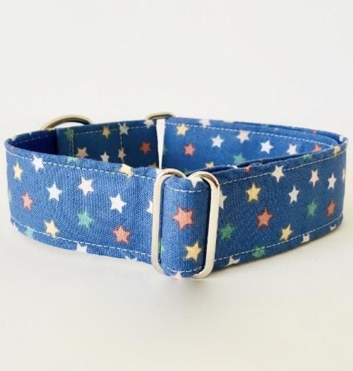 collar perro estrellas azul navidad 3