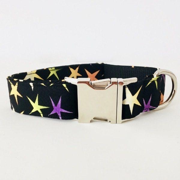 collar perro estrellas negro grande 1