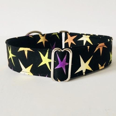 collar perro estrellas negro grande 3