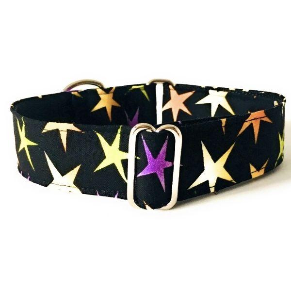 collar perro estrellas negro grandes FB-min