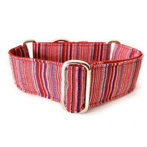 collar perro ethnic rojo 1-min