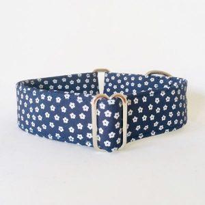collar perro flores mini azul marino 1-min