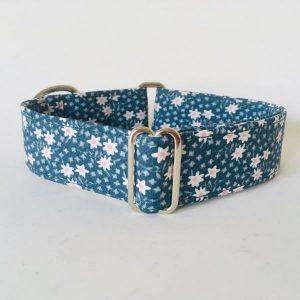 collar perro flores mini verde oscuro 1-min