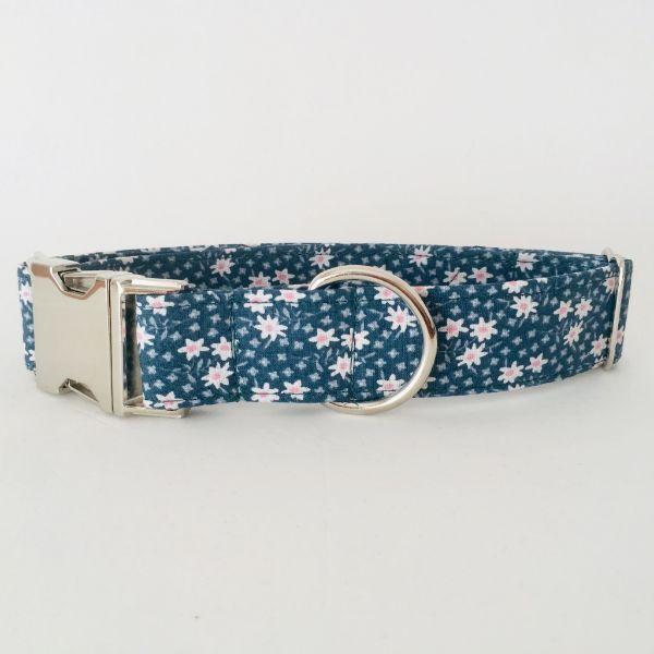collar perro flores mini verde oscuro 4-min