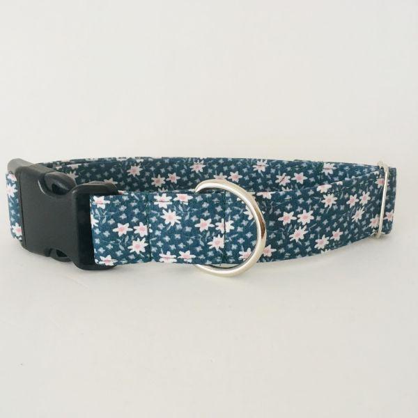 collar perro flores mini verde oscuro 7-min