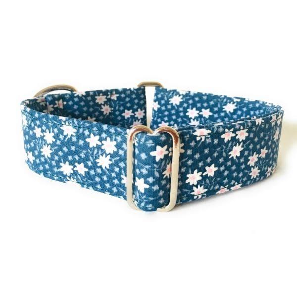 collar perro flores mini verde oscuro FB-min