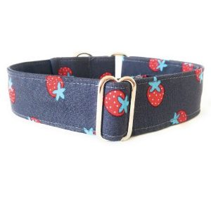 collar perro fresas gris FB-min