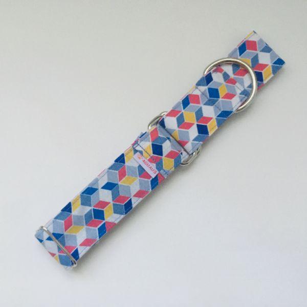 collar perro geometrico azul 3-min