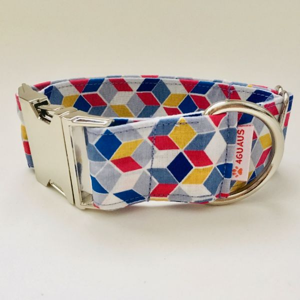 collar perro geometrico azul 4-min