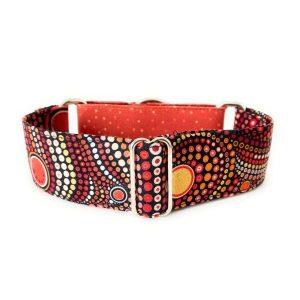 collar perro hippie rojo combi 1-min