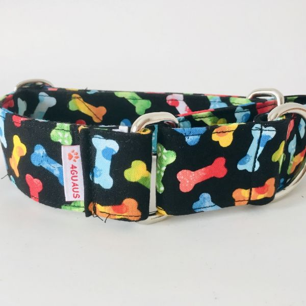collar perro huesos de colores 2-min